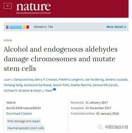 《Nature》上一项关于饮酒与癌症关联的研究