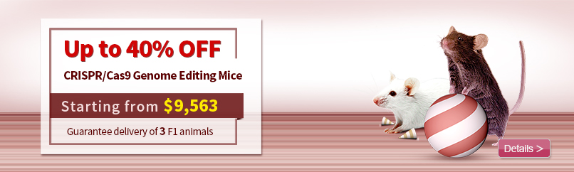 CRISPR/Cas9 Genome Editing Mice, Only $9,563