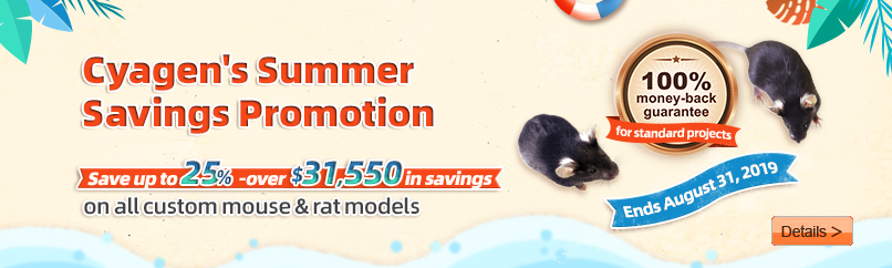 Cyagen's Summer Savings Promotion